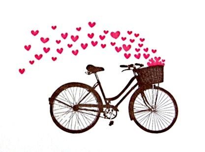 I'm going to ride my bicycle up and down my little village and spread hearts!  ;-)