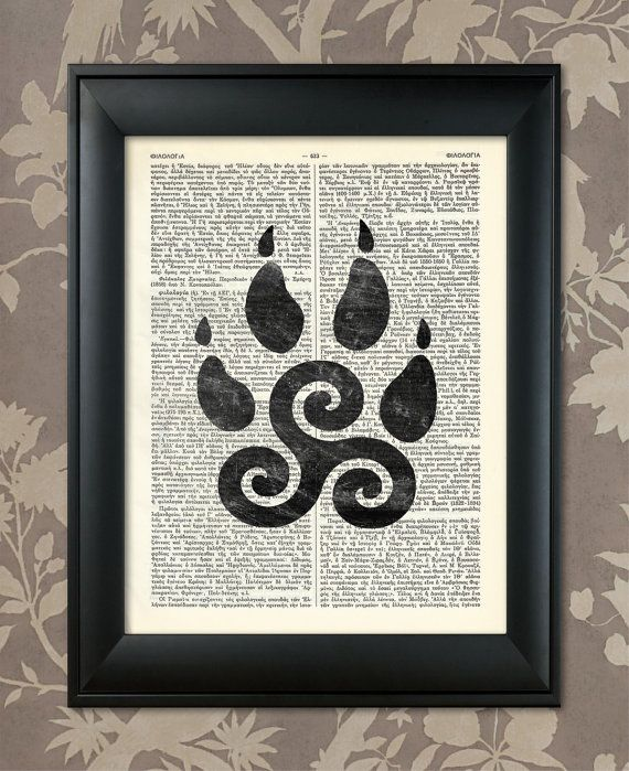Teen Wolf, Teen Wolf Triskelion, Teen Wolf Poster, Teen Wolf art / Upcycled Dictionary, Art Print, Poster / Vintage Greek Encyclopedia