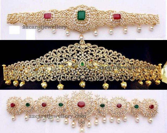 Diamond Flat Vaddanam Designs - Jewellery Designs
