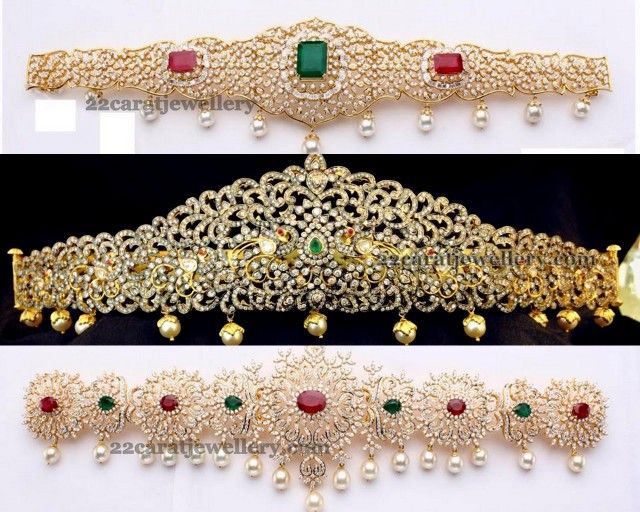 Diamond Flat Vaddanam Designs - Jewellery Designs