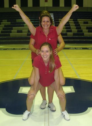 basic cheer stunts pictures - Google Search