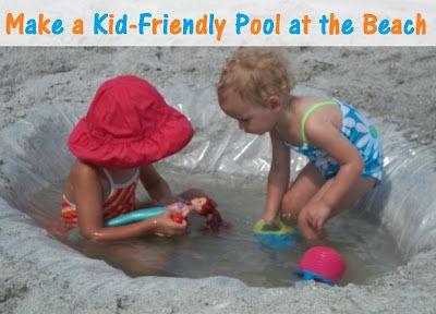 Make a Thrifty, DIY, Kid-Friendly Pool at the Beach   In Lieu of PreschoolIn Lieu of Preschool