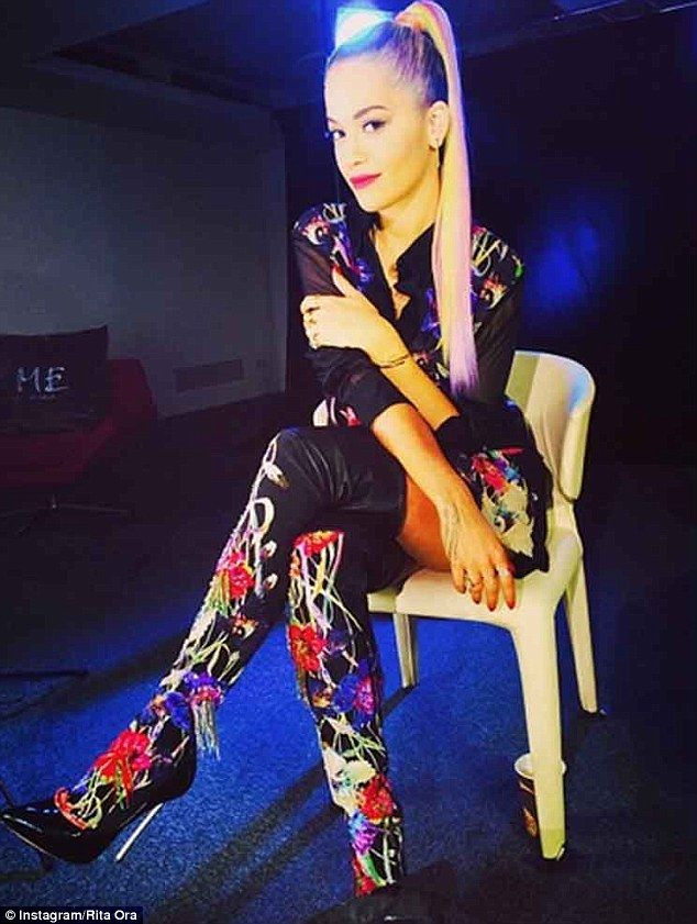 Impressed: Rita shared this snap with fans on Instagram, commenting: 'Incredible detail HE...