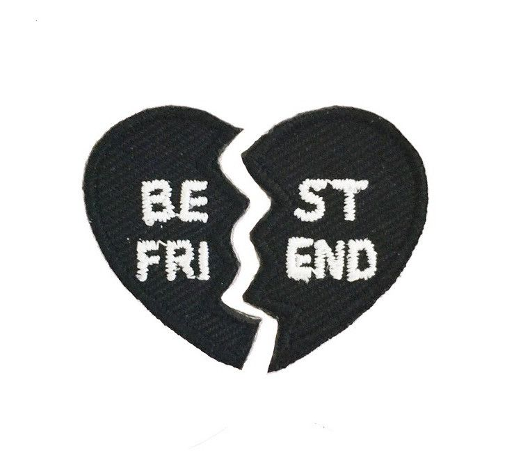 "The perfect gift for your BFF, our Best Friend hipstapatch is actually 2 separate patches that can be joined together to create one heart. Each half measures approximately 1"" x 3/4"". Give one half to"