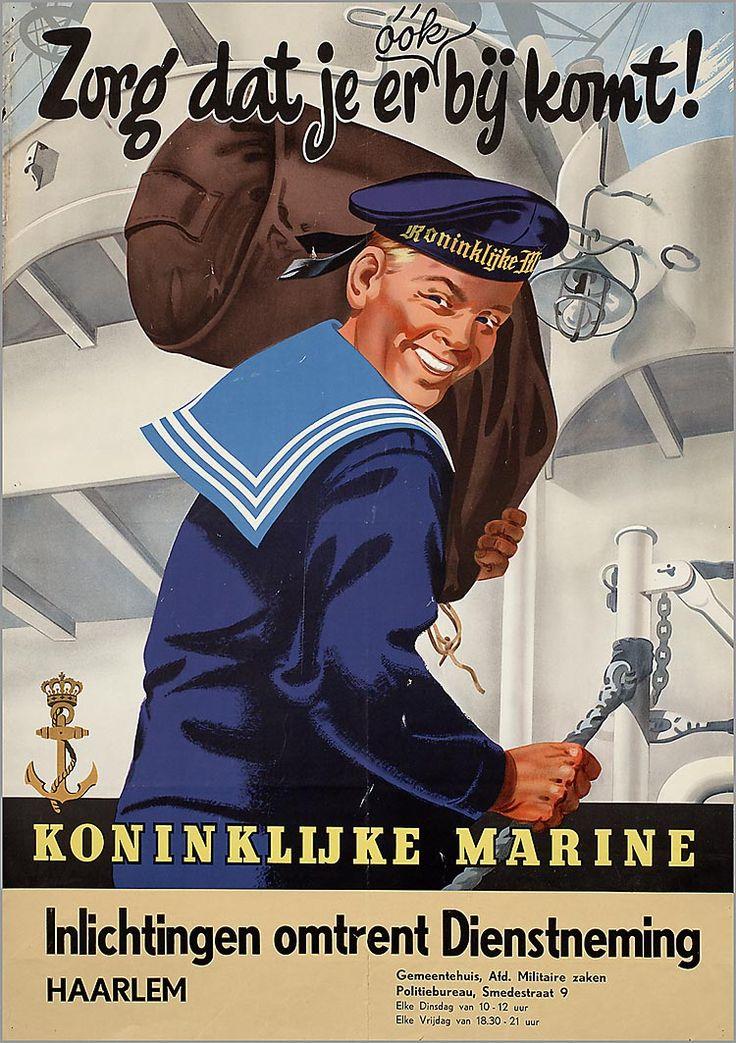 Dutch ad : Nederlandse Koninklijke Marine (Dutch Royal Navy, 1955)