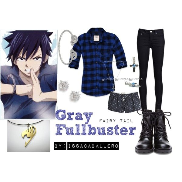 """gray fullbuster - fairy tail"" by issacaballero on Polyvore"