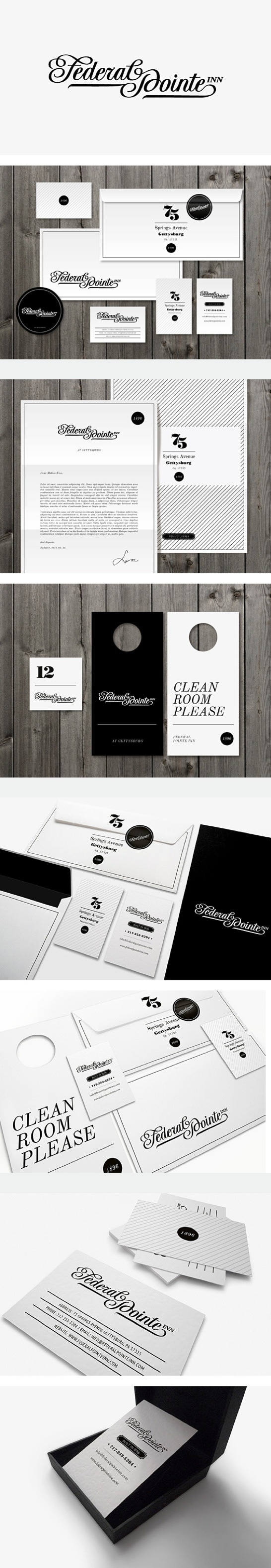 Federal Pointe Inn Identity by Miklós Kiss
