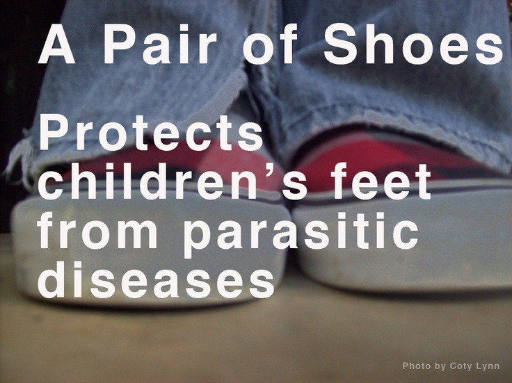 A Pair of Shoes protects children's feet from parasitic diseases