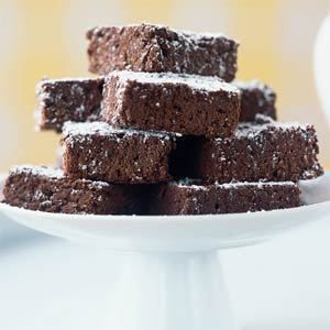 Nathalie Dupree's Fudgy Brownies - the BEST.  I got this recipe from my sister 20+ years ago and is still my go-to brownie.  She had an awesome show on PBS.
