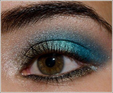 trucco occhi marroni azzurro