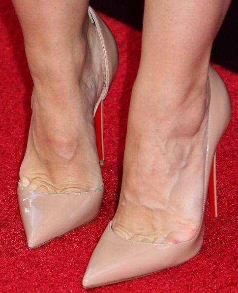 Kristen Bell (shoe detail) attends The Weinstein Company and Lexus Presents Lexus Short Films at the Regal Cinemas L.A. Live on July 30, 2014 in Los Angeles, California