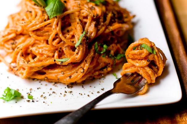 Vegan Tomato-Basil Pasta | 18 Tasty Weeknight Pasta Dinners