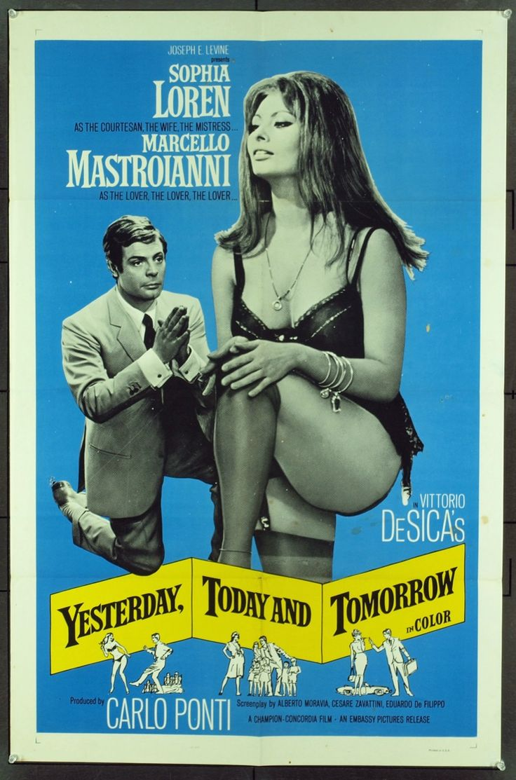 YESTERDAY, TODAY, AND TOMORROW (1963),  Vittorio De Sica