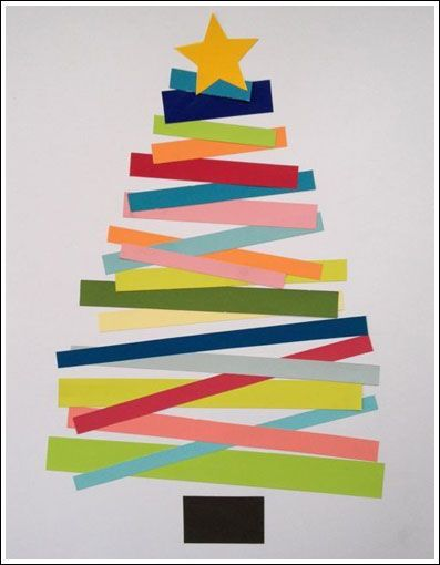 Christmas Paper Tree Craft--Great for comparing lengths!