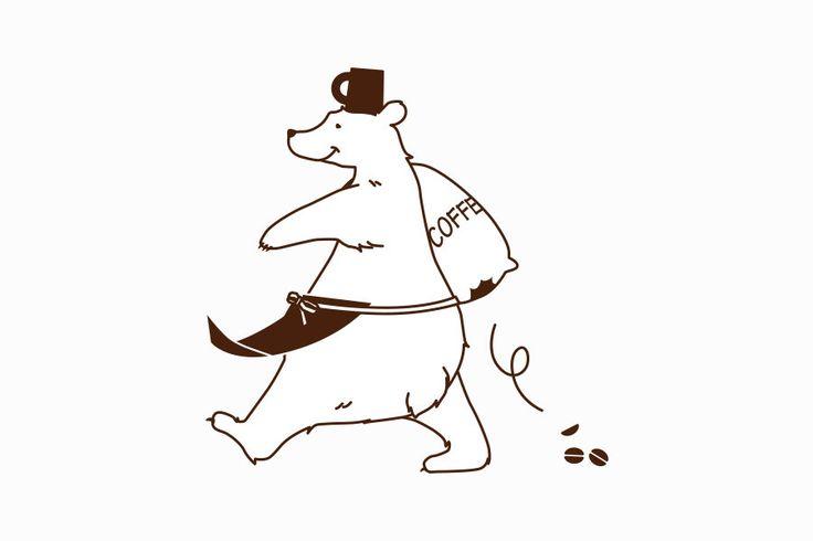 お店のコンセプトを表したクマのキャラクターサムネイル