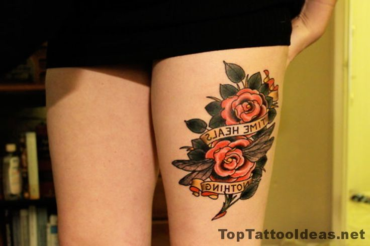 Time Heals Nothing Tattoo Idea