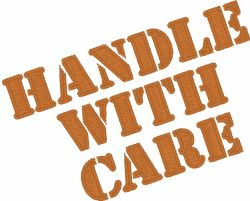 Free Embroidery Design: Handle With Care - I Sew Free