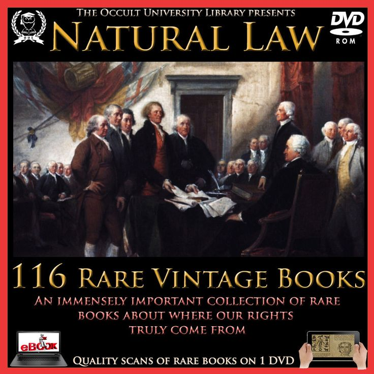 Natural Law Deism Enlightenment Nature Law Common Law Occult Books on DVD offered by occultbooks33 @eBay
