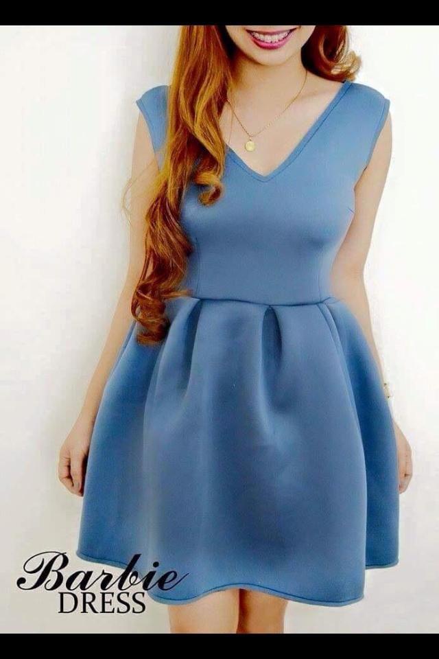 blue babycon short dress for teenage