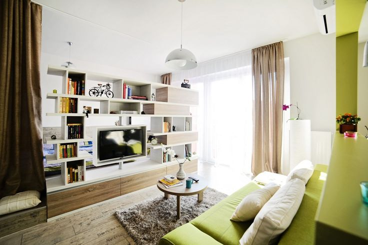 interior project modern apartment 40Sqm Apartment Showcasing a Highly Creative Layout in Arad, Romania