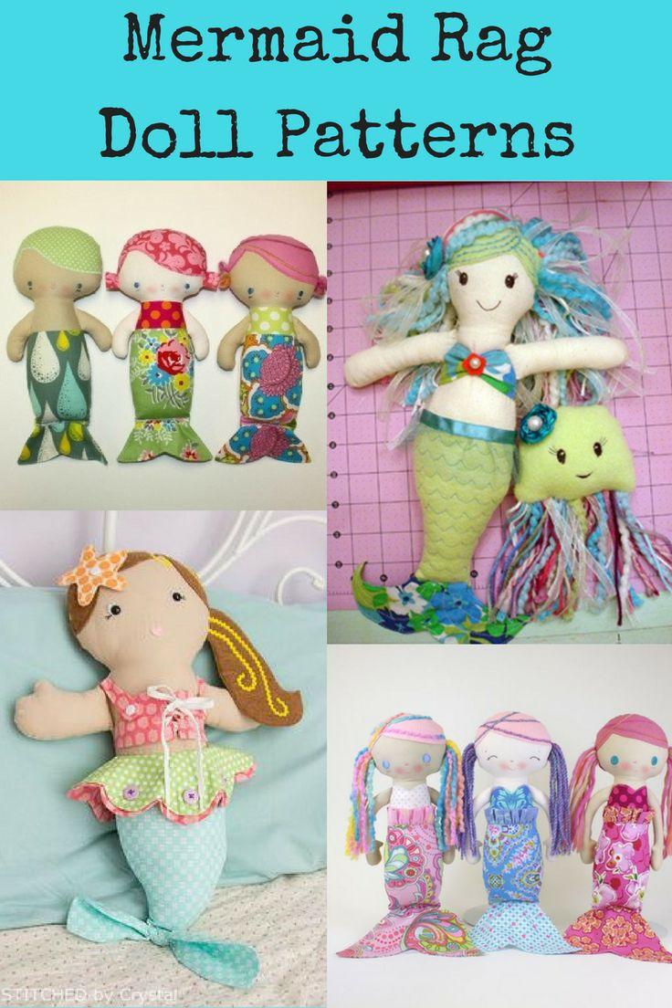 Top Mermaid Rag Dolls Sewing Patterns