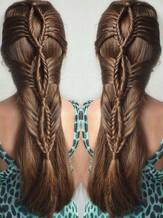 Fishtail braided lopped hairstyle idea inspiration hairspiration  @mimiamissari