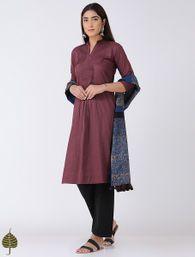 Buy Black Angrakha Cotton Kurta by Jaypore Women Kurtas Online at Jaypore.com