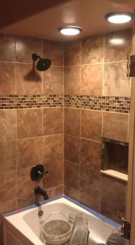big squares with glass border multi size tiles for wall large tiles on floor - Shower Wall Tile Design