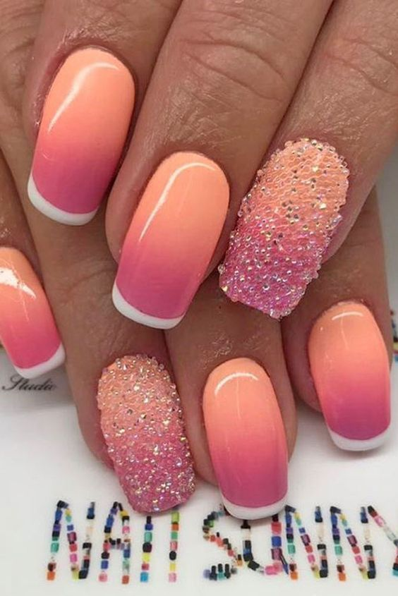 30+ Summer Nail Art Ideas You'll Wish to Try | Summer nail art, Summer and Sunset  nails - 30+ Summer Nail Art Ideas You'll Wish To Try Summer Nail Art