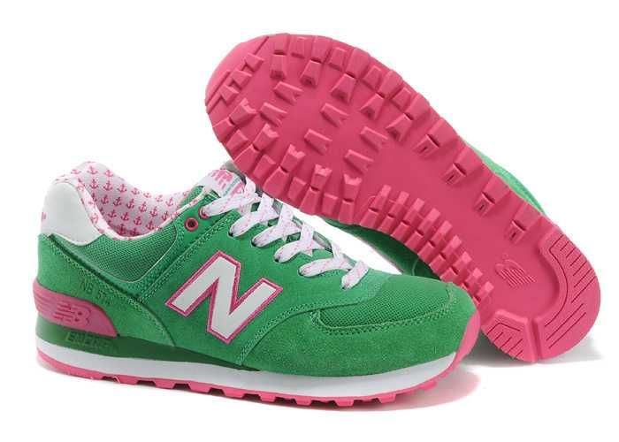 new balance 574 pink and green