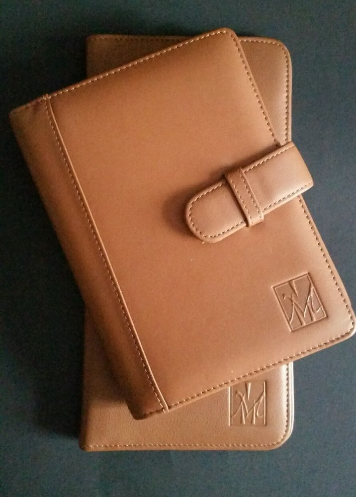 Airline Passport Travel Wallett And Brag Book Set Andrew Philips Real Leather #AndrewPhilips #PassportCase