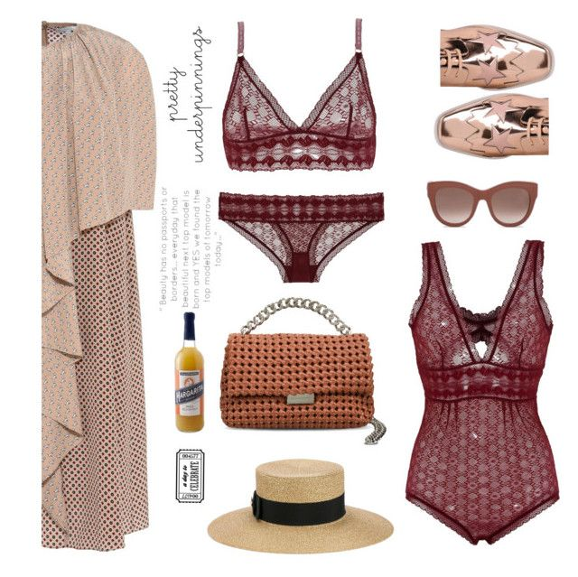 """""""race day"""" by lizart ❤ liked on Polyvore featuring STELLA McCARTNEY, Gucci, Williams-Sonoma, polyvoreeditorial, polyvorecontest, polyvorefashion and prettyunderpinnings"""