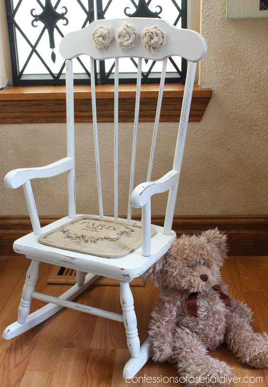 Little Shabby Chic Rocking Chair Home Projects Shabby Chic