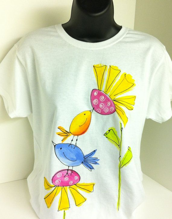 Sm to 3X Ladies Hand Painted Tee. $20.00, via Etsy.