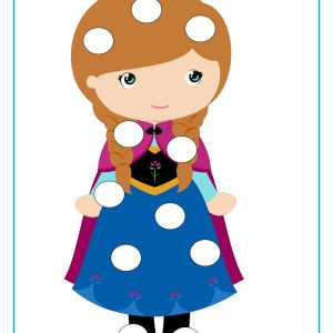 Adorable Frozen inspired Do-A-Dot activities