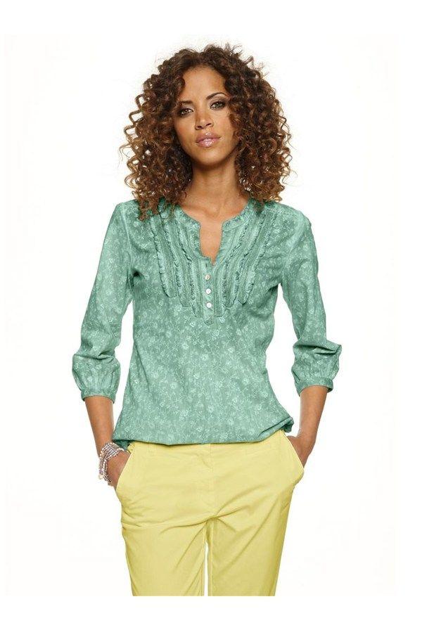 Bluză,+verde+deschis