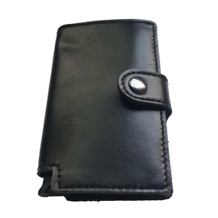 Tuopuke IV genuine leather wallet black color