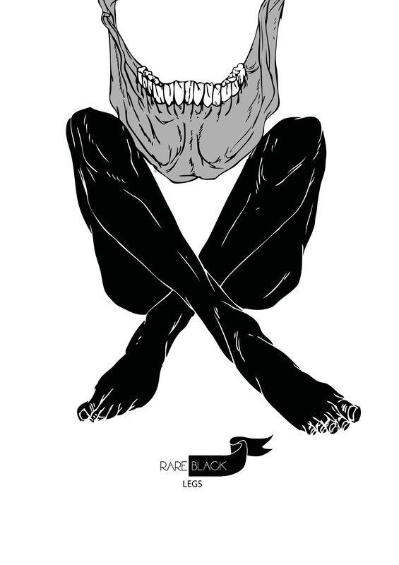 black legs - ink sketch X print