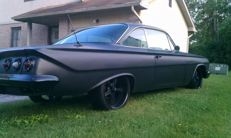Pro-Touring 61 impala black on black on black. murdered out