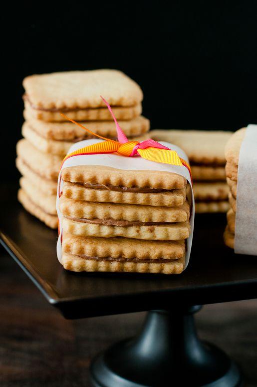 Orange Nutella Sandwich Cookies - reminiscent of Orange Milanos - The Hungry Rabbit blog