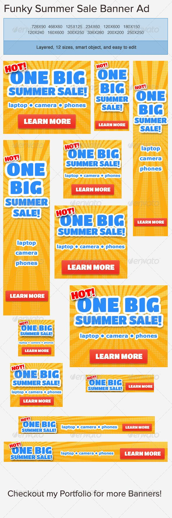 best images about ads banner template graphicriver on summer banner ad template