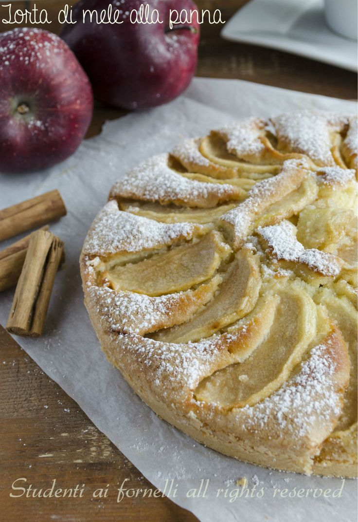 torta di mele e panna ricetta dolce alle mele soffice e goloso