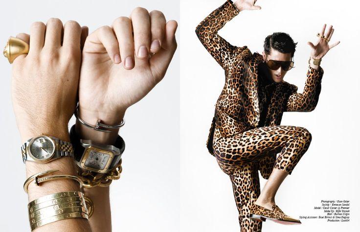 Ring / Versace Watches / Rolex & Cartier Bracelets / Versace & Cartier Opposite Suit / Moschino Shoes / Christian Louboutin Sunglasses / Rick Owens Earrings / Givenchy Bracelets / Cartier