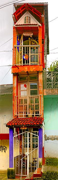 """Tall Thin House - Colors Of Mexico"", near Patzcuaro, Michoacan, Mexico 