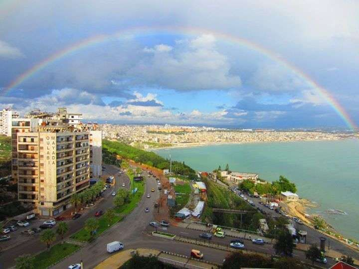 Latakia, a coastal town in Syria. I don't know if it still looks like this today.