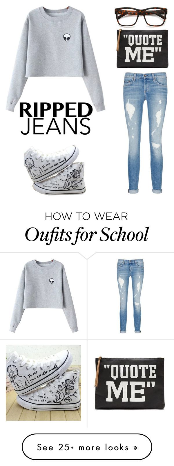 """Comfy Hipster for School"" by swimsinger on Polyvore featuring Chicnova Fashion, HVBAO, rag & bone/JEAN and Banana Republic"