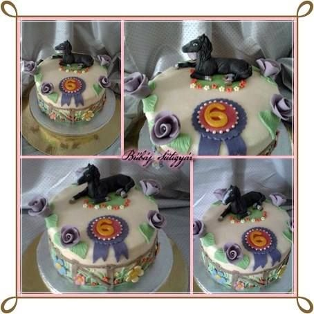 horse,rose cake