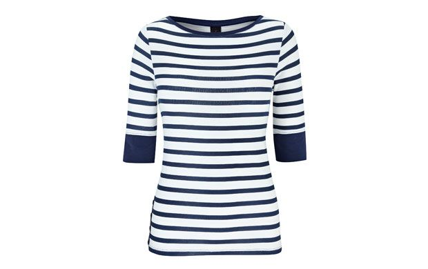 "Striped Jersey Top. ""Hello, sailor! Team this striped top with your favourite skinny jeans for a chic, timeless look."""