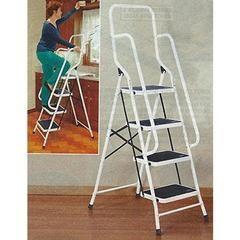 Four Step Steel Safety Ladder w/ Handrails