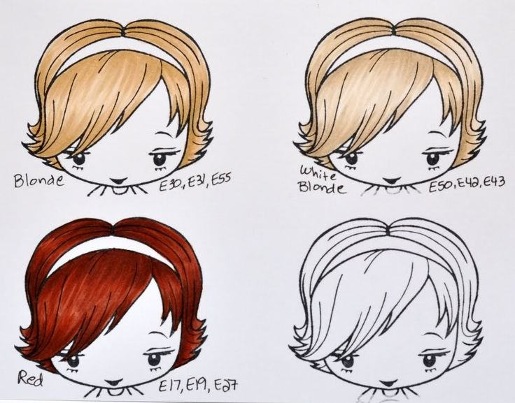 Color Me Copic: Hair Colors - By Mary Giles